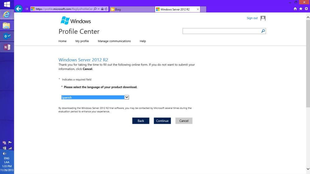 Descargando Windows Server 2012 R2 + SC [ISO] (5/6)