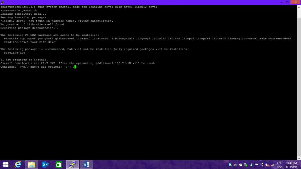 Instalando PostgreSQL en OpenSuse + Azure (2/6)
