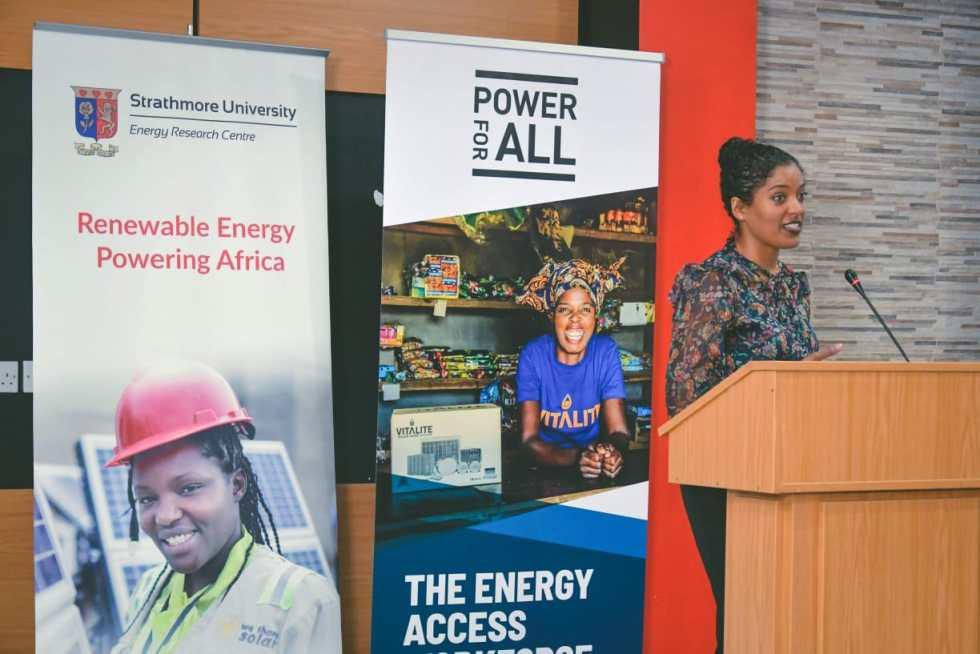 Rebekah Shirley giving Powering Jobs Keynote