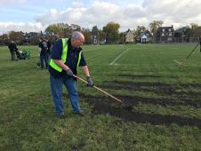 renovated sports fields with improved grass surfaces