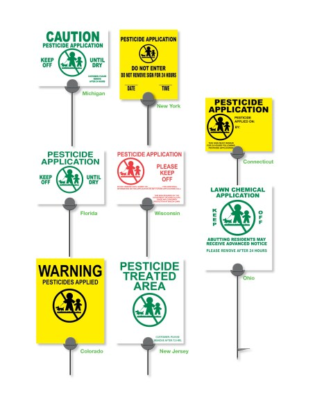 state lawn posting signs