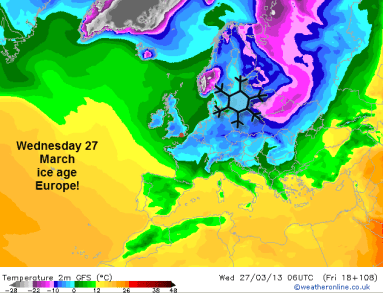 very cold across Europe all this week