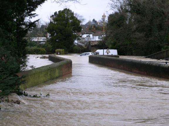 Brockham Bridge RMole thanks CEllis: highest EVER flood