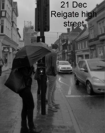 rainy Reigate High Street, Dec 21