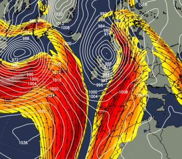 Jet stream swooped south following UK storm