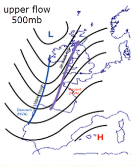 upper level trough approaches from west