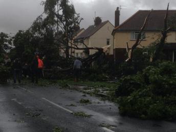 damage elsewhere: tornadic