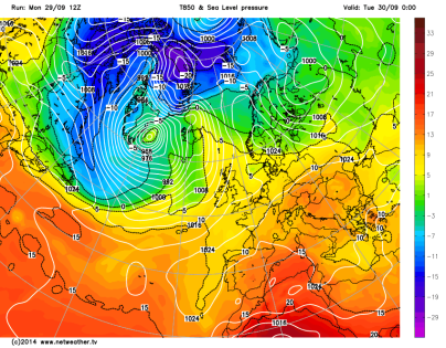 warm air mass over UK this week