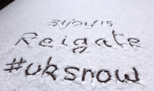 Reigate snow 31/01/2015