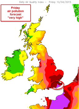 friday pollution forecast