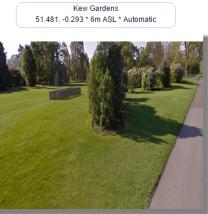 Kew Gardens metoffice weather station