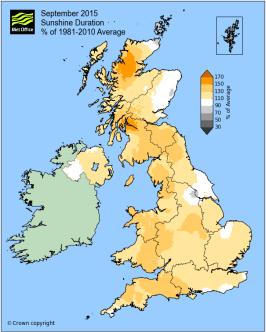 September anomalously sunny