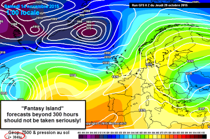 Fantasy Island..very unreliable forecasts beyond 300hours