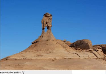 Bodélé Depression strange rock formations