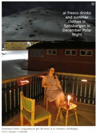Svalbard Polar night heat wave