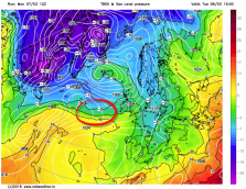 850hPa temperature gradient