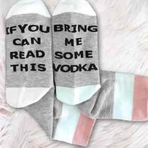 IF YOU CAN READ THIS BRING ME SOME VODKA Funny Women's Socks
