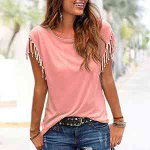 New Tassel T-Shirt Short Sleeve