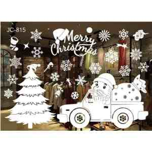 New Year Window Glass PVC Wall Sticker Christmas DIY Snow Town Wall Stickers Home Decal
