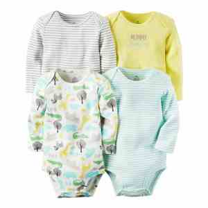 Baby Bodysuit Set Long Sleeve 4 pcs-Pack Boy and Girl