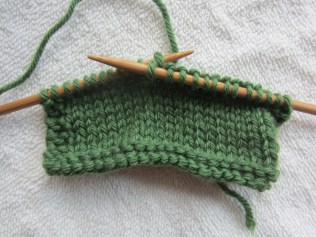 knitting, front side