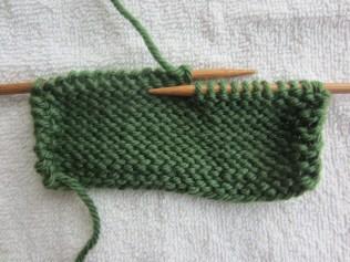 knitting, back side
