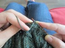 Pull the yarn through