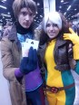 Alex and Lindsay as a lovely Gambit and Rogue.