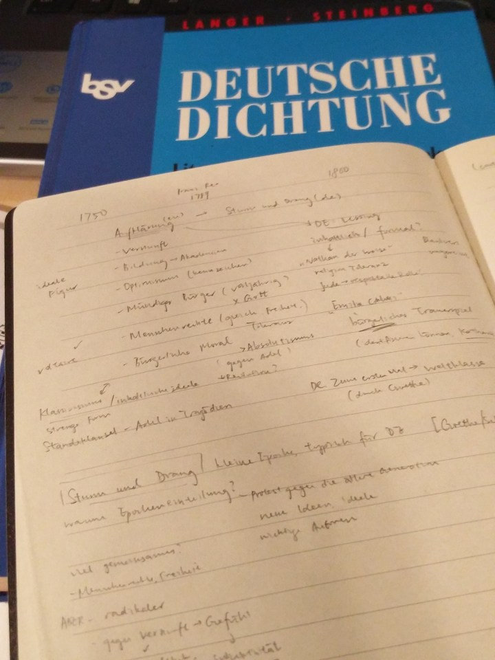 Studying German literature