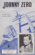 Vintage sheet music cover Johnny Zero