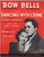 Vintage sheet music cover Bow Bells (Dancing With Crime)
