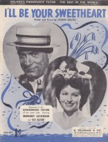 Vintage sheet music cover I'll be Your Sweetheart