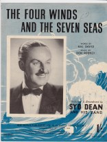Vintage sheet music cover The Four Winds and the Seven Seas