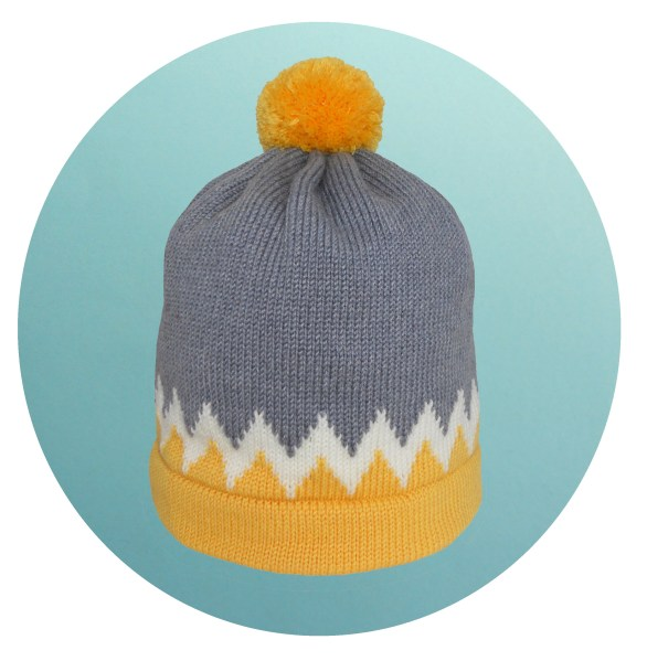BH - Chevron - Yellow and grey