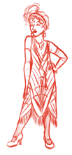 Flapper Sketch
