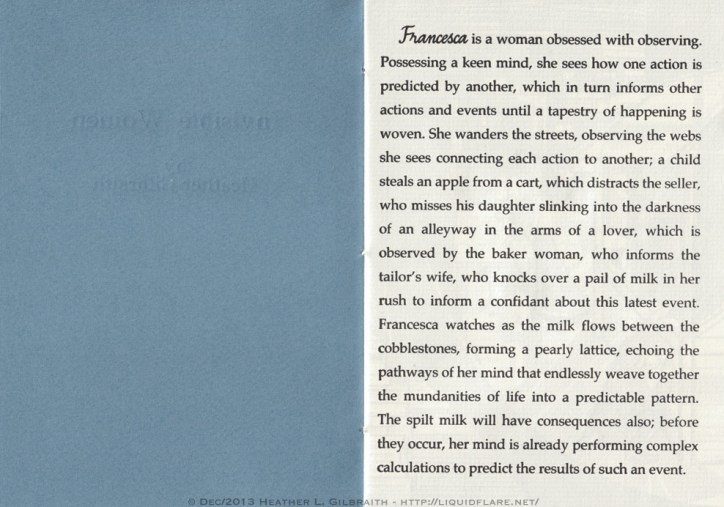 Invisible Women, Pg 1