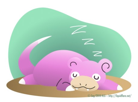 Sleepy Slowpoke – Vector