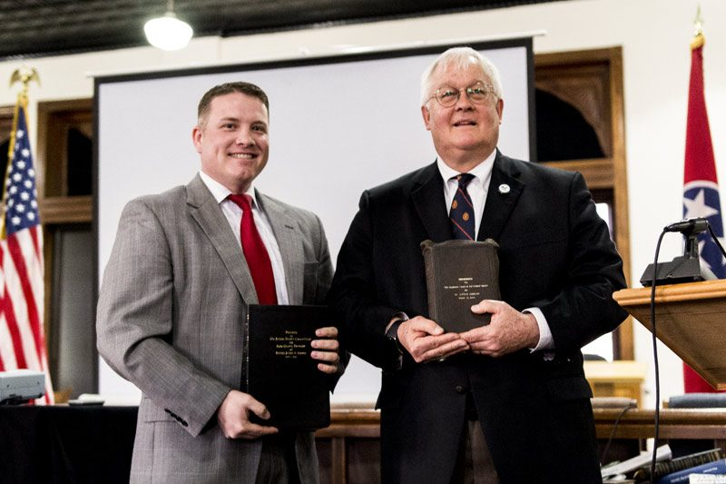 Tennessee Circuit Court Judge Justin Angel holds newly presented
