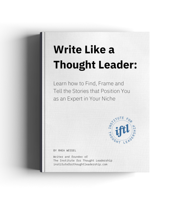 Write like a thought leader - American writer and story consultant