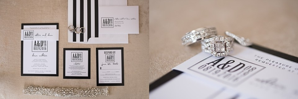 Wedding rings and wedding invitations