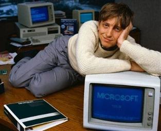 Bill Gates in seinen frühen Tagen, Foto von Martin Zwilling