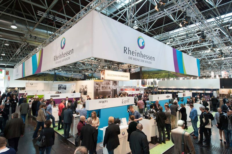 Rheinhessen Stand bei der Messe Prowein 2015