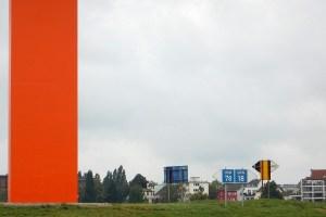 Kunstwerk Rhein Orange Ruhrmündung