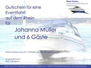 Gutschein-Motorboot-Eventfahrt