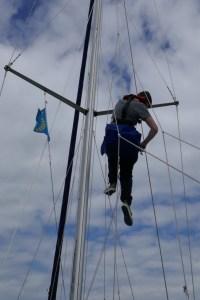 Skippertraining Segelyacht - Umgang mit dem Bootsmannstuhl