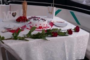 Heiratsantrag an Bord der Motoryacht Betti in Düsseldorf
