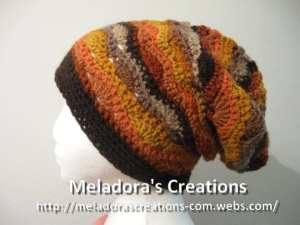 Wavy Stitch Slouch Hat by Meladora's Creations