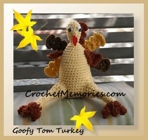 Goofy Tom Turkey by Crochet Memories
