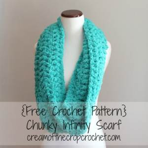 Chunky Infinity Scarf by Cream Of The Crop Crochet