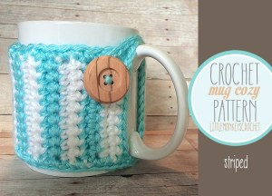 Striped Mug Cozy by Little Monkeys Crochet